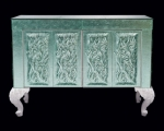 Комод зеленый  Pataviumart Sideboard with Green Murano Glass ACCR02/2102