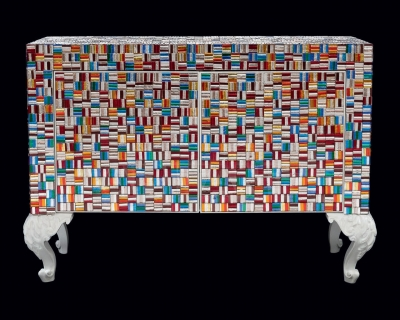 Комод Pataviumart Sideboard with Murano Glass Arlecchino ACCR02/2112