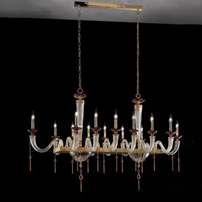 Подвесная люстра Euroluce Lampadari Julienne Axis Clear Gold L14