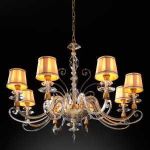 Подвесная люстра Euroluce Lampadari Alicante Satin transparent glass 1478 (112071/L6L)