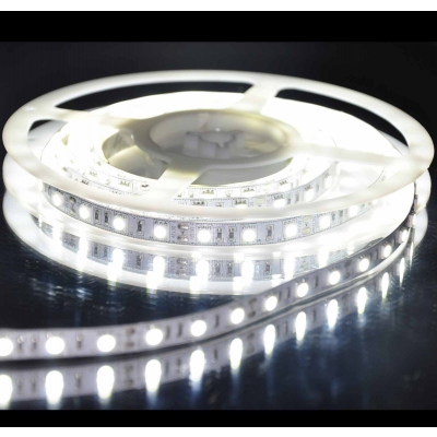 Однотонная лента Lightstar 5050 Led 12V 14.4W/m 60LED/m 10-12lm/LED IP20 4200K-4500K 200m/box нейтральный белый свет 400054