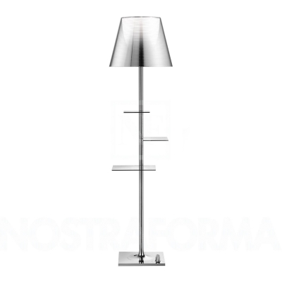 Торшер со столиком Flos Bibliotheque Nationale aluminized silver