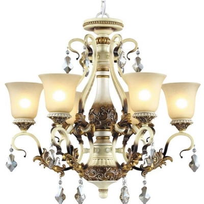 Подвесная люстра N-Light Clear Crystal 708-06-02 Ivory + Amber