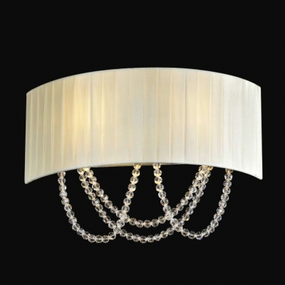 Бра Newport 1400 1402/A Chrome Clear crystal Shade beige