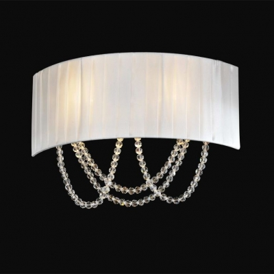 Бра Newport 1400 1402/A Chrome Clear crystal Shade white