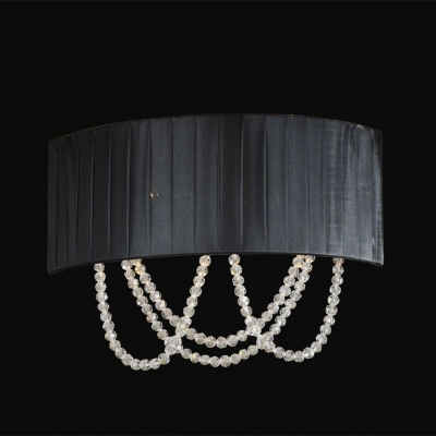 Бра Newport 1400 1402/A Chrome Clear crystal Shade black