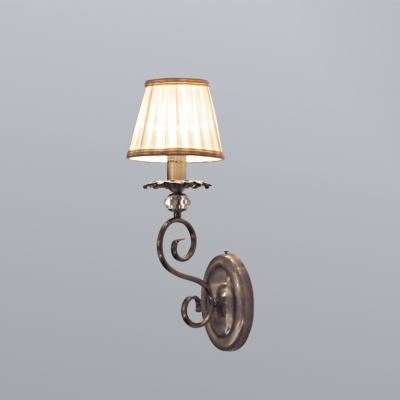 Бра Newport Античная бронза 2101/A Antique bronze Clear crystal Shade beige