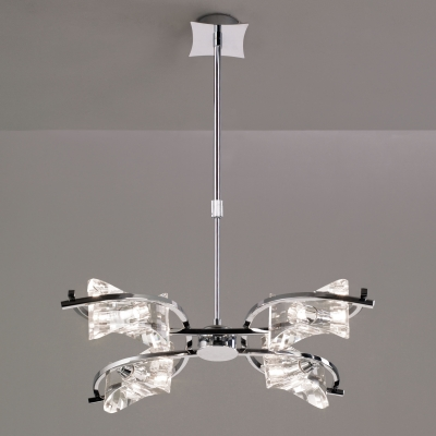 Люстра на штанге Mantra Krom Cromo Pendant 4 lights 0881 Chrome