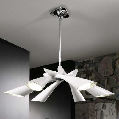 Люстра на штанге Mantra Pop Blanco Pendant 6 lights 0920 White Lacquer