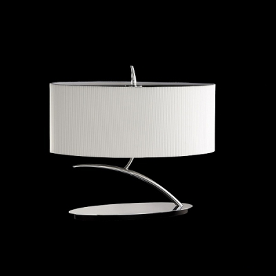 Декоративная настольная лампа Mantra Eve Cromo - P. Creama Tabl Lamp 2 lights 1138 Chrome/Off White Shade