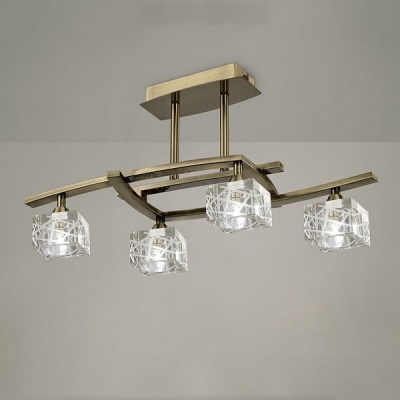 Потолочный светильник Mantra Zen Semiceiling 4 lights 1430 Antique Brass