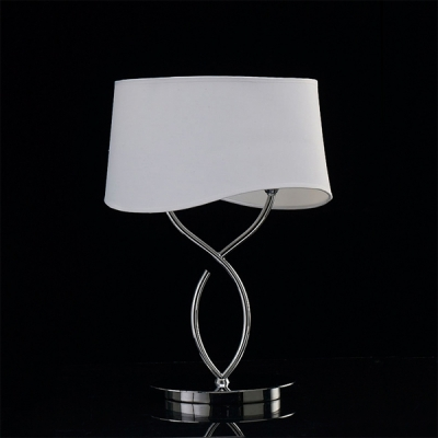 Декоративная настольная лампа Mantra Ninette Table Lamp 2 lights Big 1906 Chrome - Off White Shade