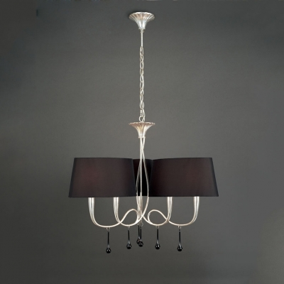 Подвесная люстра Mantra Paola Pendant 6 lights 3530 Silver Painted