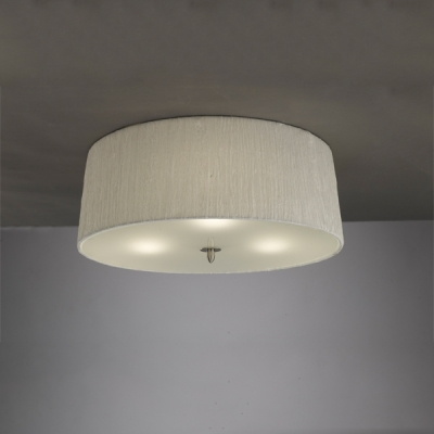 Потолочный светильник Mantra Lua Ceiling 3 lights 3705 Satin Nickel + White Shade