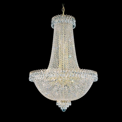 Подвесная люстра Schonbek Camelot Gemcut Chandelier 2628 Polished Gold