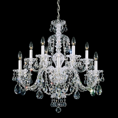 Подвесная люстра Schonbek Sterling Heritage Chandelier 3601 Polished Silver