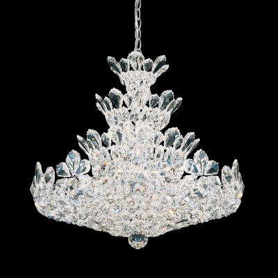Подвесная люстра Schonbek Crystals from Swarovski Chandelier 5858 Polished Silver