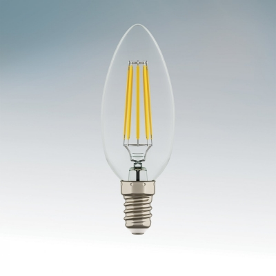 Лампа накаливания Lightstar LED FILAMENT 220V C35 E14 6W=65W 360G CL 2800K-3000K 20000H 933502